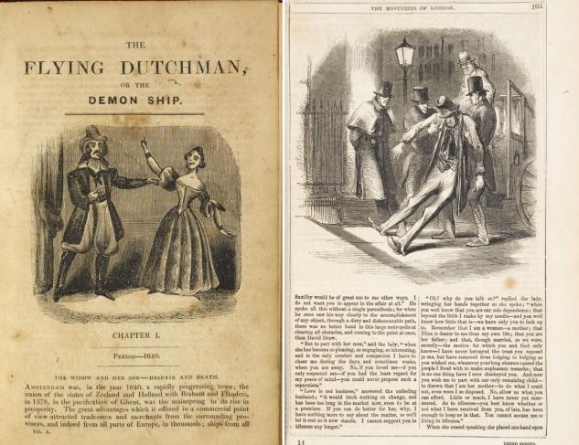 Duas histórias de sucesso: a fantasmagórica The Flying Dutchman e a melodramática The Mysteries of London.