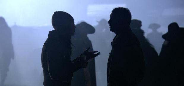 Naomie Harris e Steve Coogan em um momento mágico do filme.