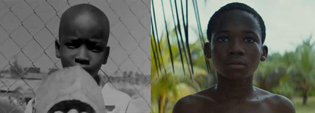 Dois olhares: à esquerda, Ibrahima Boy em Garota Negra. À direita, Attah em Beasts.